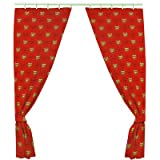 Official Arsenal FC Curtains - A Great Gift / Present For Men, Boys, Sons, Husbands, Dads, Boyfriends For Christmas, Birthdays, Fathers Day, Valentines Day, Anniversaries Or Just As A Treat For Any Avid Football Fan