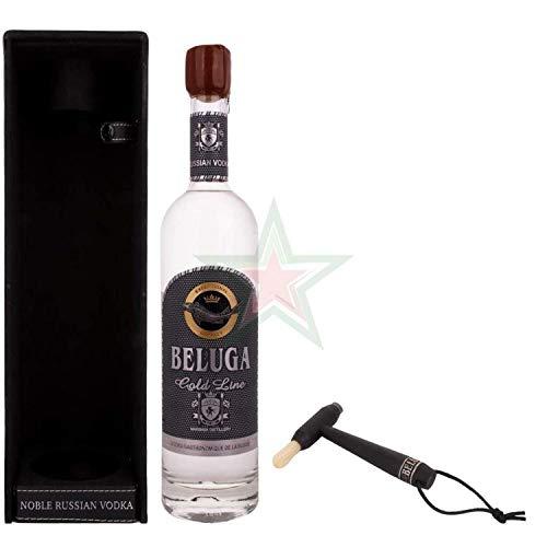 Beluga Gold Line Noble Russian Vodka in Lederoptik mit Pinsel 40,00% 0,70 Liter