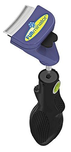 FURminator FURflex, Fellpflegebürste für kleine Hunde, deShedding-Tool zur Entfernung der Unterwolle, Größe S