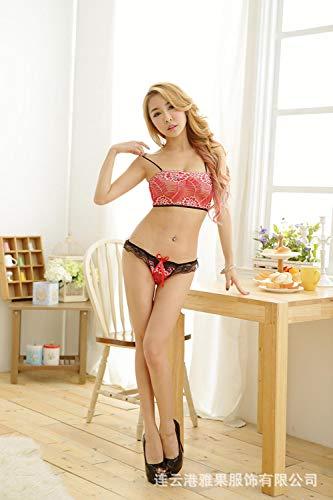 Vrouwen Erotische Kostuums Baby Poppen Sexy lingerie sexy pyjama set drie punt volledige kant 3 kleur nieuw pak