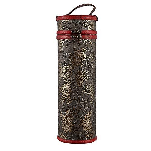 Cikuso Zylinder Vintage Retro Holz Vintage Wein Flasche Lagerung Geschenk BO Fall Inhaber Runde