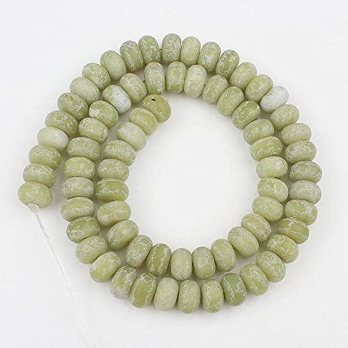 NHFVIRE 5x8mm Mate Matte Mulitecolor Abacus Perlas DIY Beads para joyería Fabricación de 15 Pulgadas Pulseras para Mujeres Chinese Jade 5x8mm 70pcs
