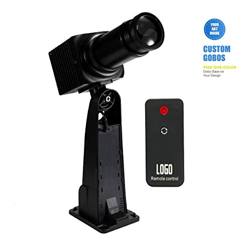 Logobos 50W LED GOBO Logo Projector Stage Effect Light Static/Rotatable Manual Zoom with Remote Control Custom GOBO for Hotel Wedding Company Bar