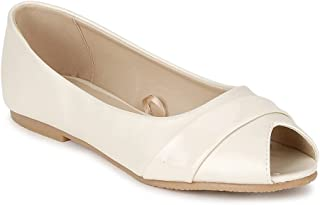 Van Heusen Women's White Ballerinas Ballet Flat