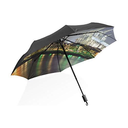Travel Inverted Umbrella Wunderschöne Romantische Kölner Dom Tragbare Kompakte Taschenschirm Anti Uv Schutz Winddicht Outdoor Travel Women New Umbrella