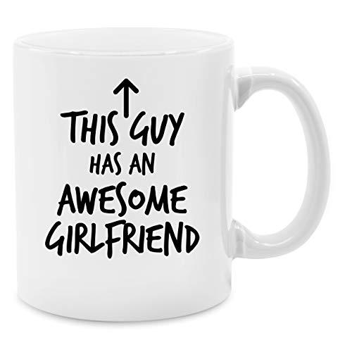 Shirtracer Valentinstag Partner Tassen - This Guy Has an Awesome Girlfriend - Unisize - Weiß - Tasse Awesome - Q9061 - Tasse für Kaffee oder Tee