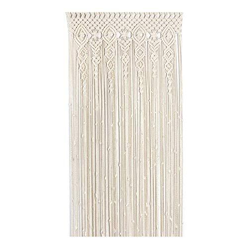 GTYZD Macrame Crochet Cortina Bohemia decoración de Pared tapicería Puerta Ventana Cortinas de Boda Colgante Divisor Sala decoración-fringe-100% Hecho a Mano (Size : W100*H200cm)