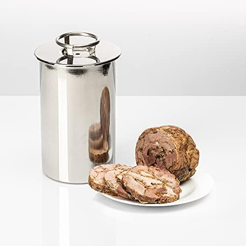 Browin 313015-Olla a presión para jamón, Carne de 1,5 kg, Acero Inoxidable, für 1.5kg Fleisch