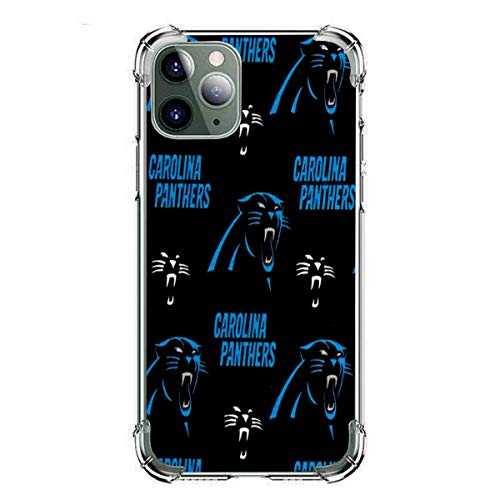 Chawuux iPhone 11pro max Case,Printed Clear Design Transparent Plastic Back Case with TPU Bumper pro maxtective Case Cover for iPhone 11pro max Carolina