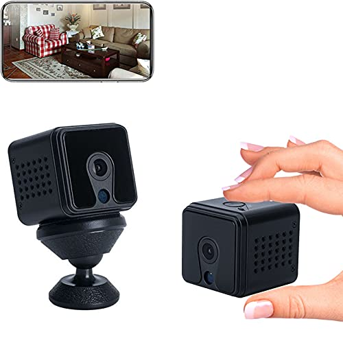 sZeao Mini Camara 1080P HD Cámara Niñera Pequeña Espia Oculta,Cámara de Vigilancia Secreta Micro Camara,Visión Nocturna y Detección de Movimiento Vigilancia Grabadora para Familia,Oficina