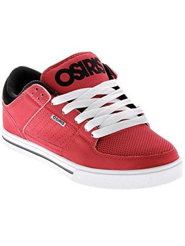Osiris Herren Protocol Skate Schuh, Rot (Burgunderrot/Schwarz/Weiß), 44 EU