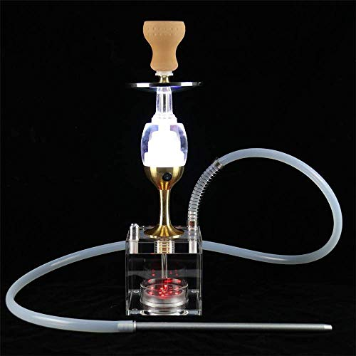 N\C ZZST Juego de cachimba, LED Micro acrílico Moderno Bubble Hookah One Hose Big Smoke con luz LED Colorida para Disfrutar de Fumar lejos de la intoxicación por nicotina ZZST