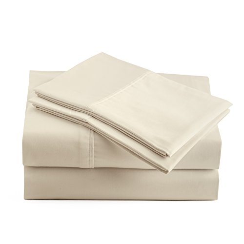 Peru Pima - Temperature Regulating - 600 Thread Count Sateen - 100% Peruvian Pima Cotton - Queen Bed Sheet Set, Ivory