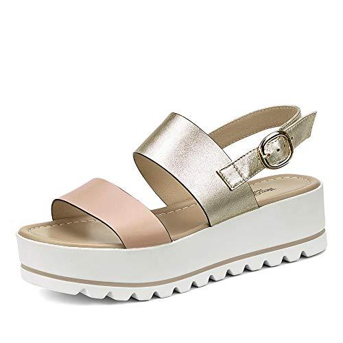 Sandalo da Donna NeroGiardini in Pelle Cipria E012581D. Scarpa dal Design Raffinato. Collezione Primavera Estate 2020. EU 38