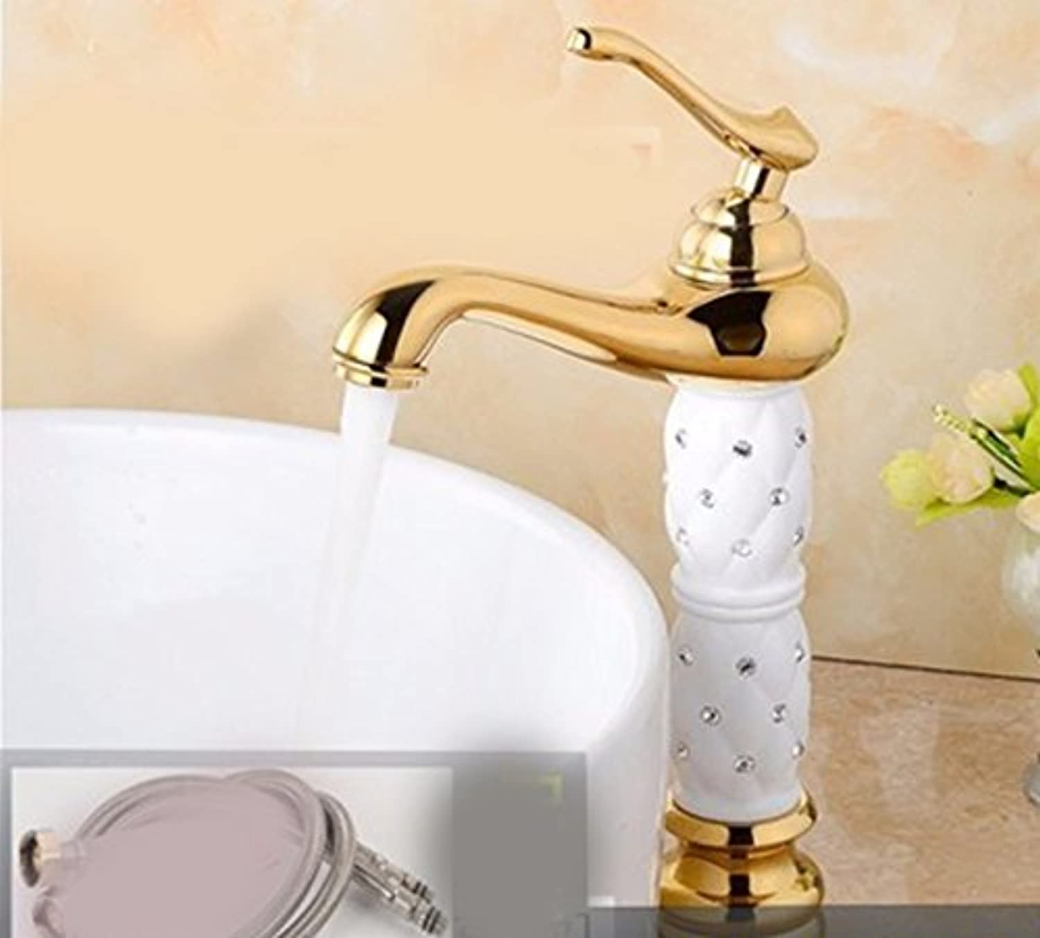 Hlluya Professional Sink Mixer Tap Kitchen Faucet Copper, plus high, hot and cold wash basins and Sinks Faucets, 8