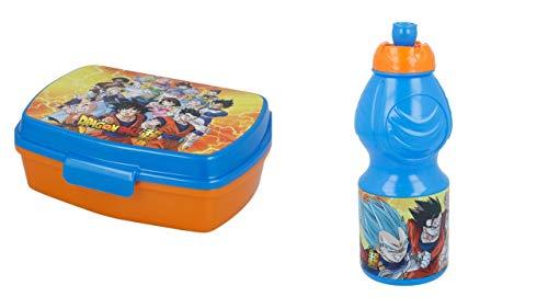 2729; pack vuelta al cole Dragon Ball; compuesto por botella (capacidad 400ml) y sandwichera rectangular; producto libre de BPA