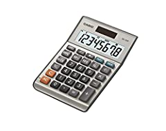 Two-way Power: Solar and Battery Large 8 digit display Desktop calculator Tax and Currency conversion, Function and Command Signs On and Off buttons, Profit margin %, +/-, Key Rollover