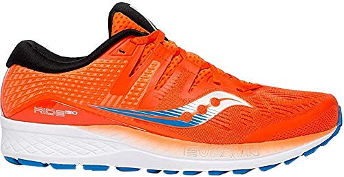 Saucony Herren Ride Iso Laufschuhe, Orange (Orange/Blue 36), 42.5 EU
