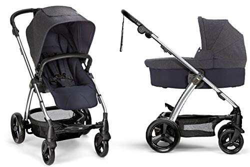 Fantastic Deal! Mamas & Papas Sola2 Stroller and Bassinet, Denim