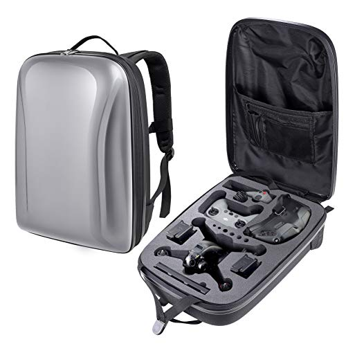 PONYRC Portable Hard Case for DJI FPV Drone, Waterproof Shockproof Backpack Bag for DJI FPV Combo Drone, Goggles V2, Remote Controller 2, Motion Controller, Battery & Accessories
