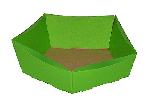 Weinkarton24 10 Stück Körbchen Petit aus Wellpappe,Osterkörbchen, Osternest, Geschenkkorb, Präsentkorb ostergrün (Mini)