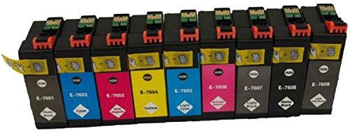 Set 9 Pigment Druckerpatronen kompatibel für EPSON SureColor SC-P600 C11CE21301