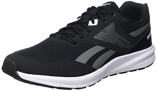 Reebok Herren Runner 4.0 Road Running Shoe, Black/Pure Grey/White, 43 EU