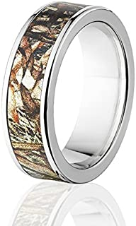 USA Made Officially Licensed Mossy Oak Camo Rings w/ Comfort Fit