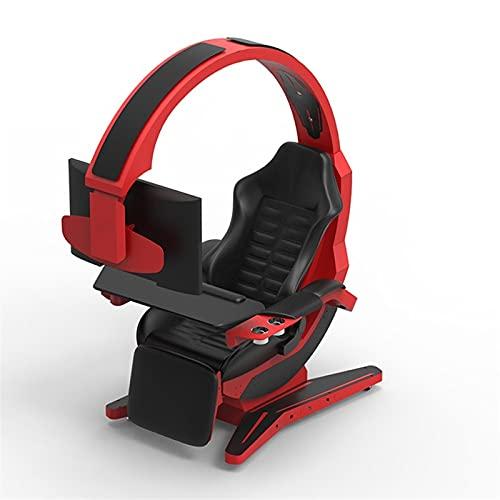 ZLQBHJ Sedie Gaming, Gioco della cabina di guida, Gaming sedia ergonomica sedia da ufficio PC Sedia con massaggio lombare di sostegno, di cuoio con schienale alto regolabile sedia girevole Task con po