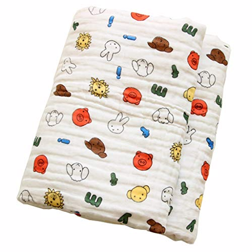 ZHENFANG Cotton Quilt Breath Eindickung Babydecken Keine Fluoreszenz Verbandsmull Handtuch Quilt Bad Towl (Color : Miffy Rabbit, Size : 110 * 110cm)