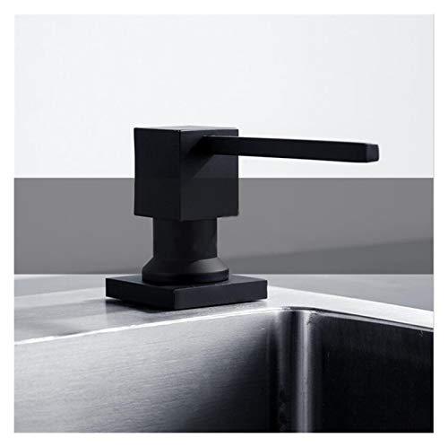 Reemplazo de la bomba de jabón, 304 Fregadero de acero inoxidable Dispensador de jabón negro ABS Bottle Cocina Uso de lavado Accesorios de lavabo Recambio líquido Accesorios de cocina de baño