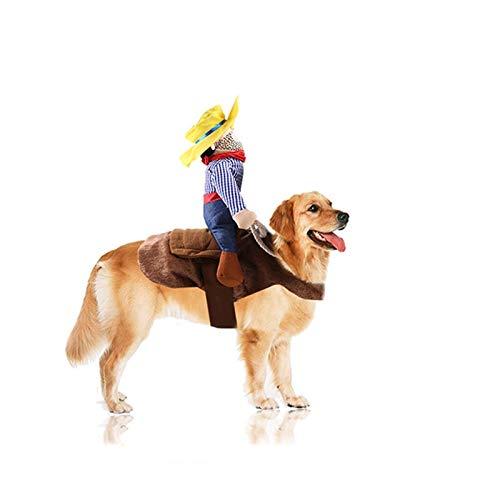 Felenny - Disfraz de Navidad para perros y gatos de Pap Noel para montar a caballo de Navidad, cumpleaos, festivales de desfiles de fotografa