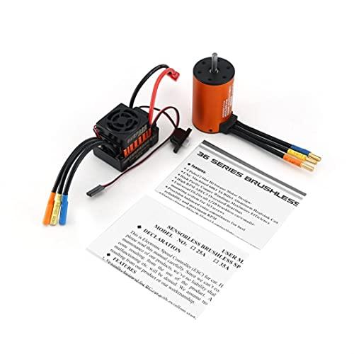 MARSPOWER Surpass Hobby 3660 3300KV / 3800KV Motor sin sensores sin escobillas con 60A ESC Combo Set para 1/10 RC Car Truck Parts Accesorios