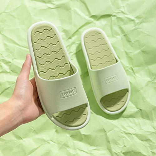 XZDNYDHGX Zapatillas Interior Sandalias Unisex para Verano Primavera OtoñO,Zapatillas de Pareja Antideslizantes de Verano Fondo Familiar Suave, Zapatos Casuales al Aire Libre Verde EU 35-36