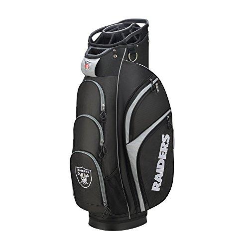 Sale!! Wilson 2018 NFL Golf Cart Bag, Oakland Raiders, Black/Silver
