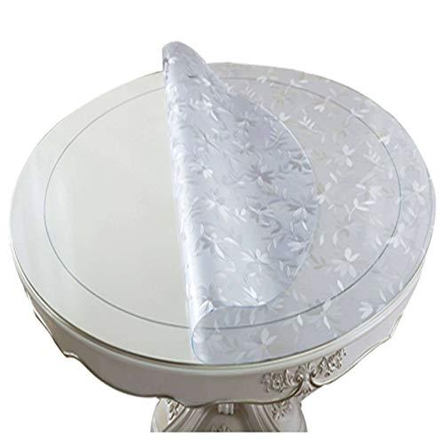 Bove Manteles Redondos Transparentes De PVC Protector De Mesa Redonda Impermeable Protector De Mantel De Vinilo Aceite Impermeable-Cubierta De Mesa De Prueba-1.5mm-150cm cm