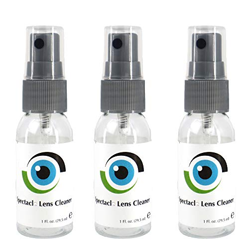 Leader Liquid Lens Cleaner 3 x 29ml, 1 Fl oz Bottles Eyeglasses, Glasses, Cameras, and Other Lenses - Alcohol Free Cleaning Solution Spray Suitable for All Coatings by Sports World Vision
