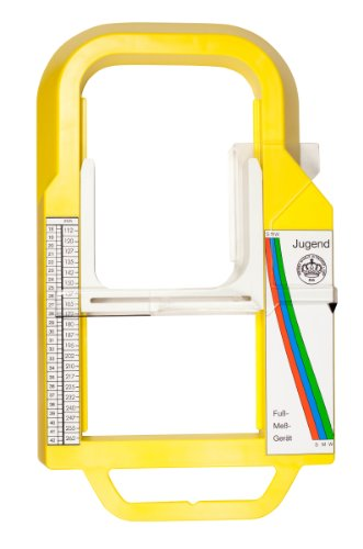 Fussmessgerät Kinder und Jugendfussmessgerät - schnell und einfach vermessen, da ohne Boden
