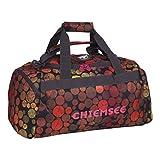 Chiemsee Reisetasche Sporttasche Matchbag Medium, schöne leichte trendige Reisetasche/Freizeittasche mit Schuhfach, Dots Black, 56 x 28 x 38 cm, 5070007