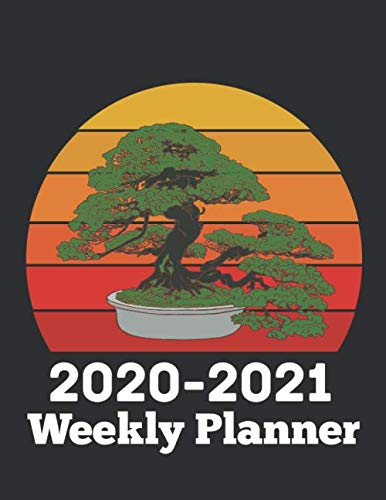 Bonsai Tree 2020-2021 Two Year Weekly Planner: 24 Months Agenda Planner with Holiday from Jan 2020 - Dec 2021 Large size 8.5 x 11 | Cute Design 2 ... for Bonsai Lover, Mother