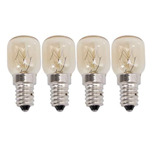FRCOLOR Bombilla LED de 25 W, E14, para microondas, para campana, lámpara retro, filamento de tungsteno, 4 unidades