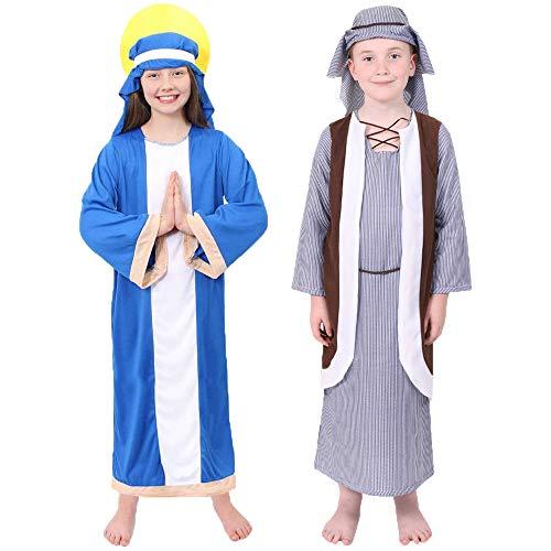 Disfraz de Virgen María y José, disfraz de natividad para niños, de María Pequeña y Grande