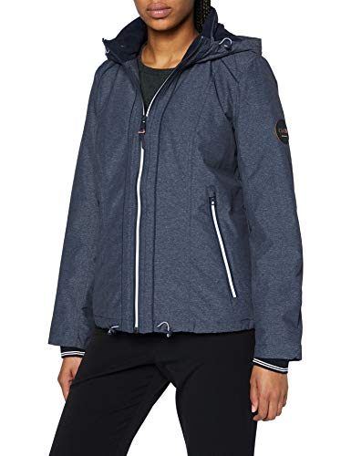 Cecil Damen 201473 Windbreaker mit Kapuze Windjacke, deep Blue Melange, Large