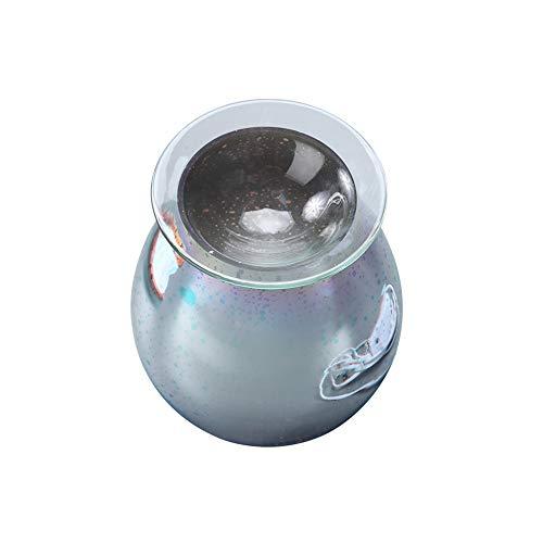 DeeCozy Wax Warmer, 3D Glas Aromatherapie Diffusor Wax Melt Warmer Glaskerzenlampe für Home Office Schlafzimmer