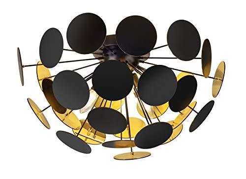 Trio Leuchten Deckenleuchte, Metall, E14, Weißmatt/Silberfarbig, 54 x 54 x 30 cm