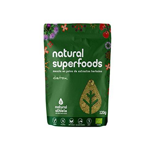 Superfood Mix Detox Natural Athlete, Superalimento 100% Natural, Vegano, Sin Gluten, Sin Lactosa, Sin Azúcar Añadido -120g