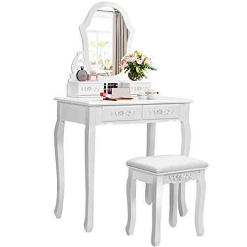 Giantex Vanity Set with Mirror and 4...