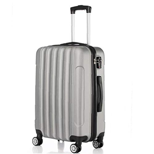 Yililay Luggage Suitcase On Hand, Sliver Grey 3-in-1 Multifunctional Large Capacity Trolley Carry Hard Shell Travel Bag Lightweight Storage Suitcase with 4 Wheels.