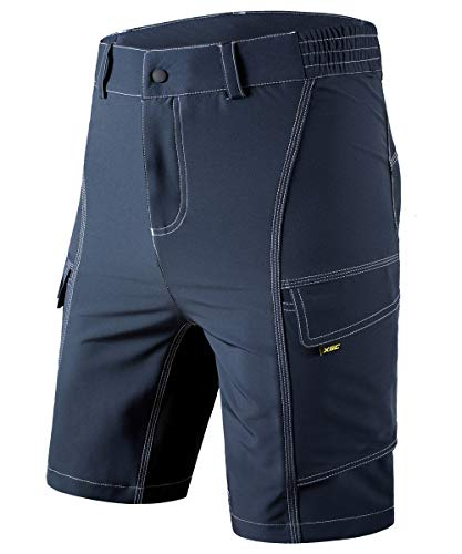 XGC Men's Cycling Shorts Bike Bicycle MTB Mountain Bike Shorts Loose Fit Cycling Baggy Cycle Pants (Grey, M)