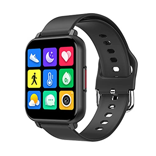 WWAIHY Reloj Inteligente Mujer Hombre,Relojes Digitales,recordatorio de monitoreo de la Salud del sueño,Pulsera Deportiva Inteligente Delgada y Liviana para Android iOS(Size:un tamaño,Color:Negro)
